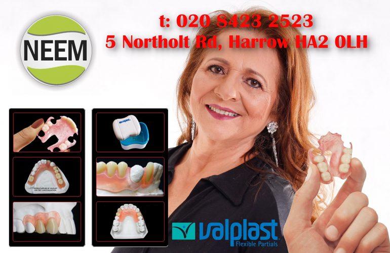Missing Teeth » Neem Dental Clinic Harrow » Valplast Flexi Dentures
