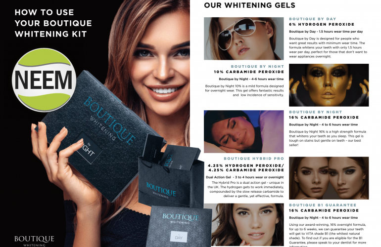 Boutique Whitening Gels