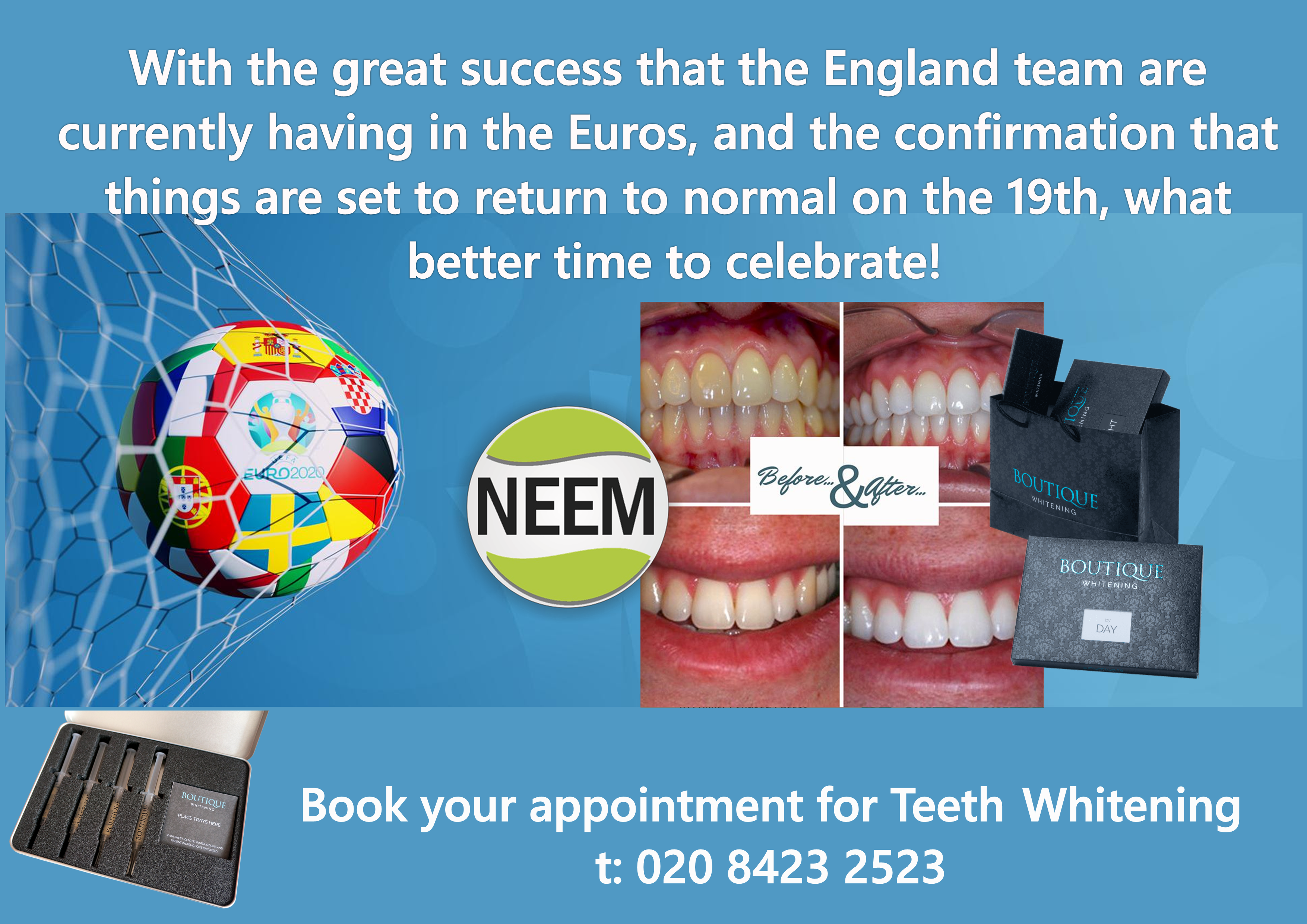 Book your appointment for Teeth Whitening