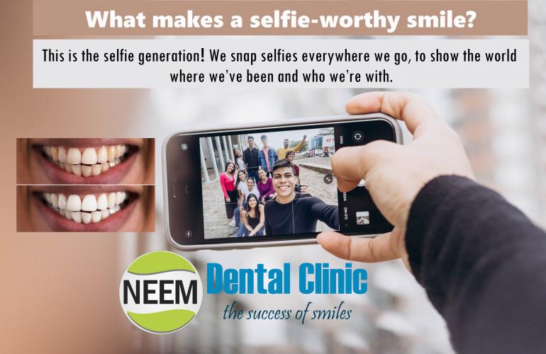 at makes a selfie-worthy smile